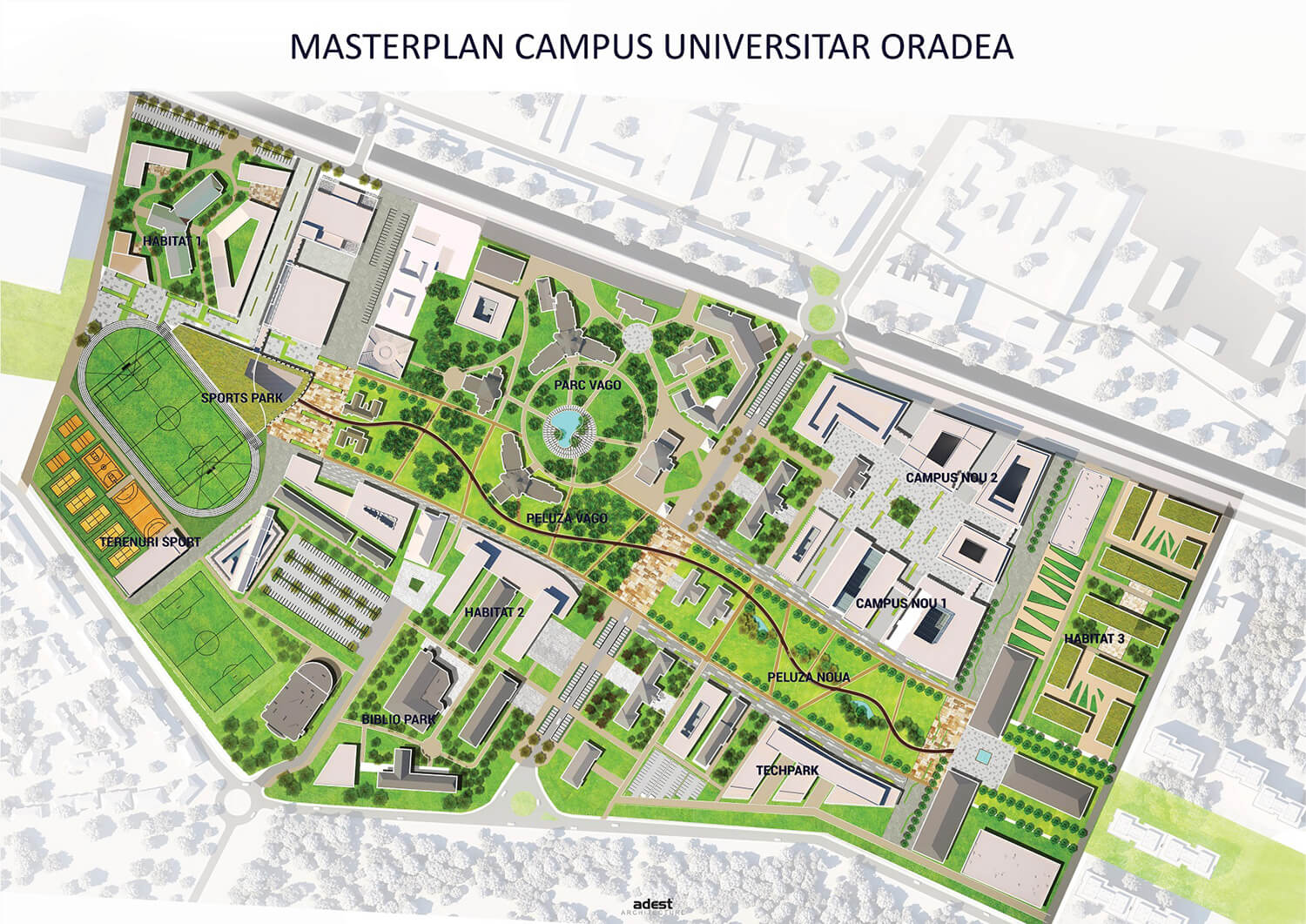 MASTERPLAN CAMPUS UNIVERSITAR ORADEA PLAN A0 2018.05.22
